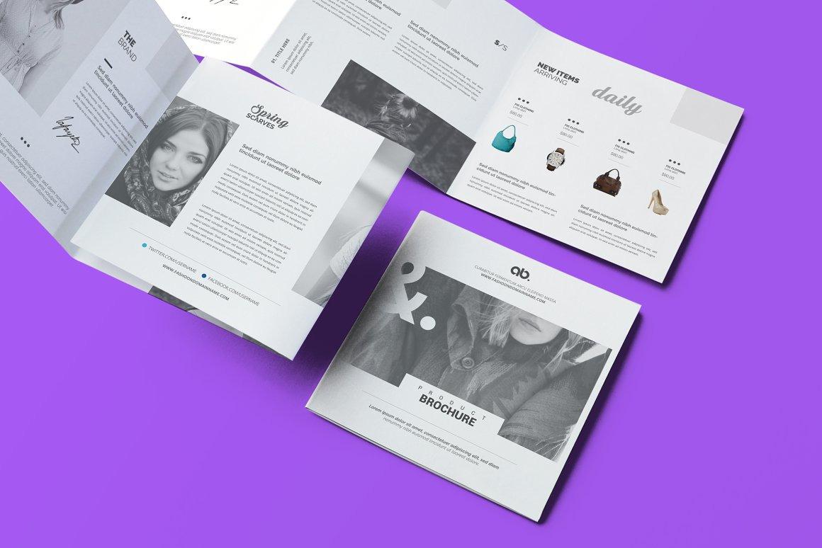 Fashion Square Tri-Fold Brochure