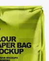 Metallized Paper Flour Bag Mockup