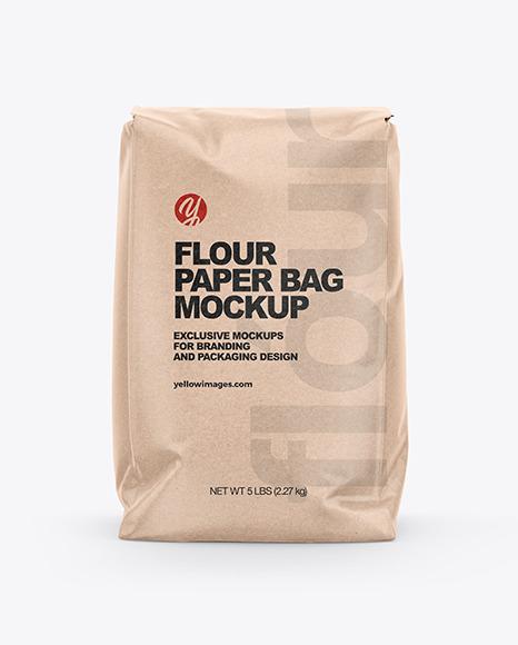 Kraft Paper Flour Bag Mockup
