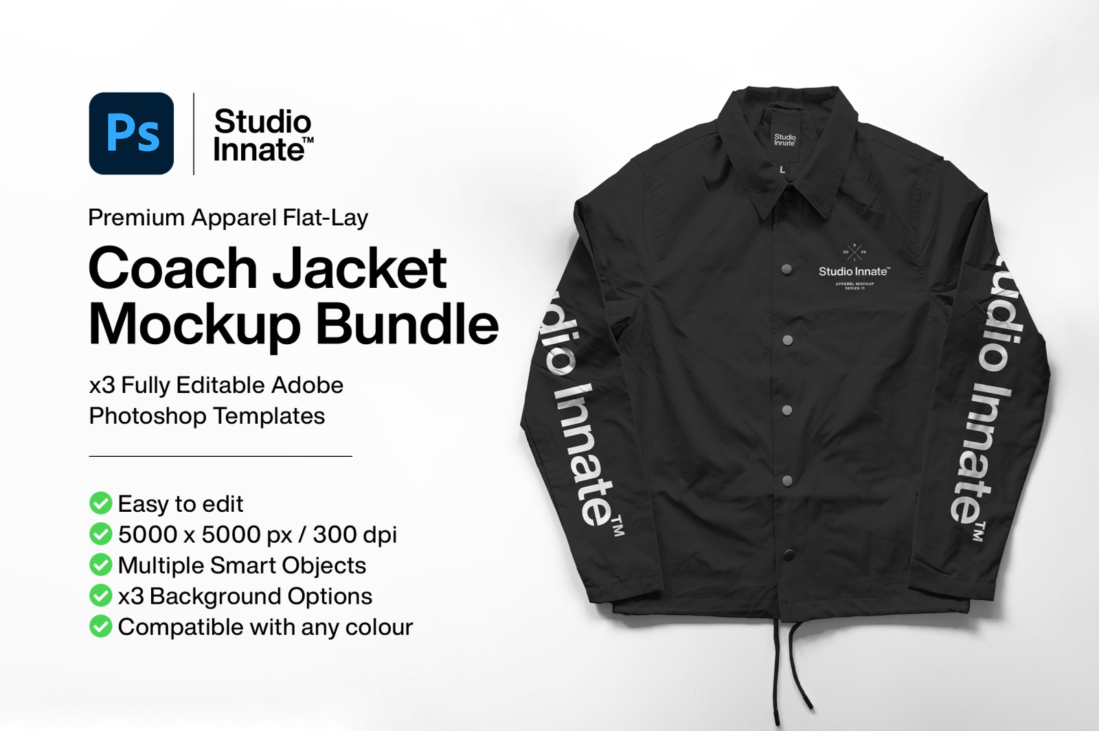 Coach Jacket - Mockup Bundle