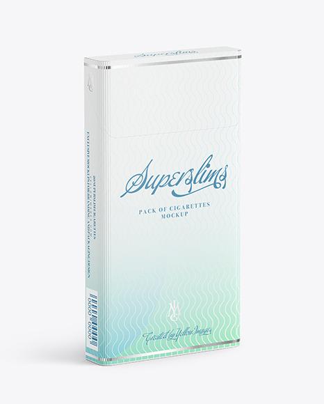 Super Slims Cigarette Pack Mockup