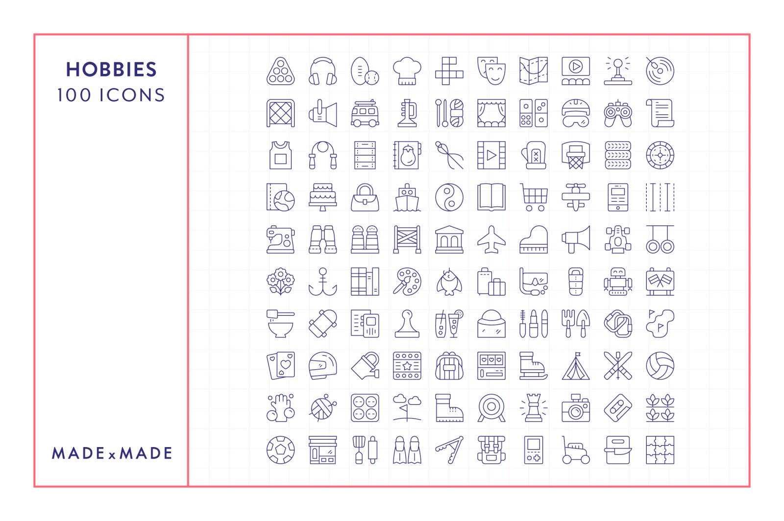 Line Icons – Hobbies