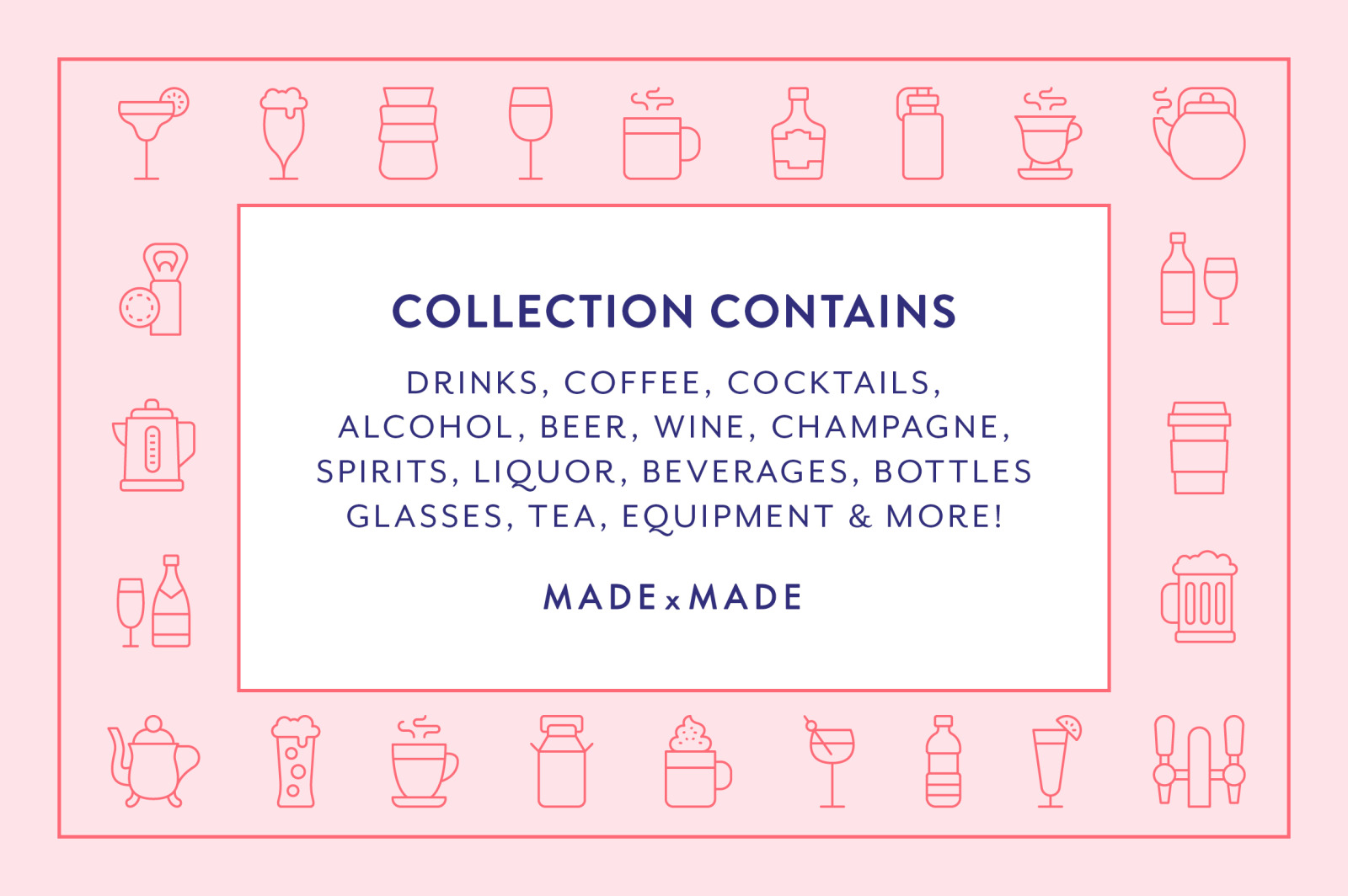 Line Icons – Drinks