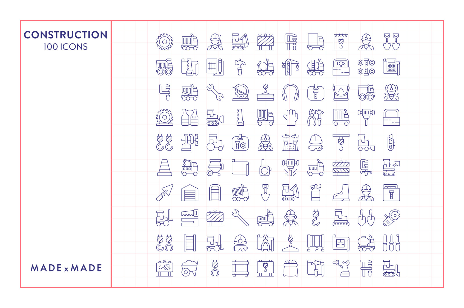 Line Icons – Construction