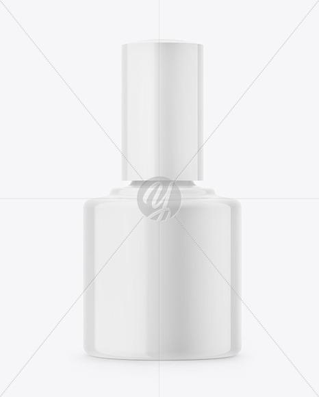 Glossy Nail Polish Bottle Mockup - Front View