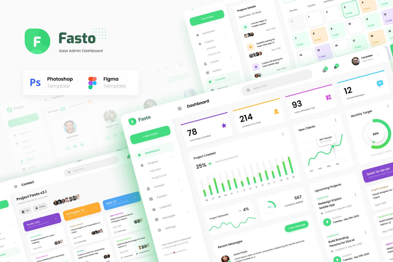 Fasto - Saas Admin Dashboard UI Design Template