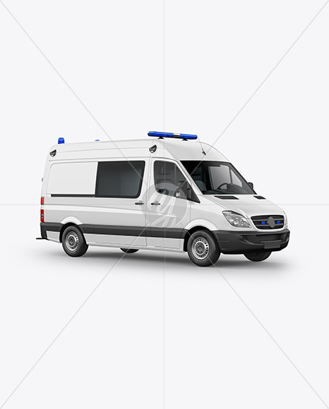 Van Ambulance Mockup - Half Side View - Yellowimages Mockups