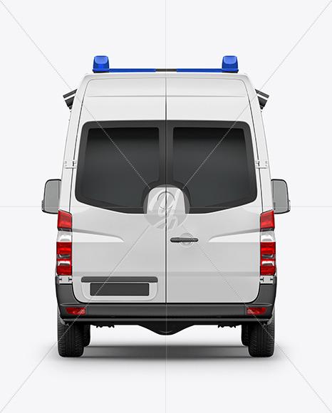 Van Ambulance Mockup - Back View - Yellowimages Mockups