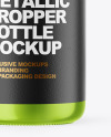 Glossy Metallic Dropper Bottle Mockup