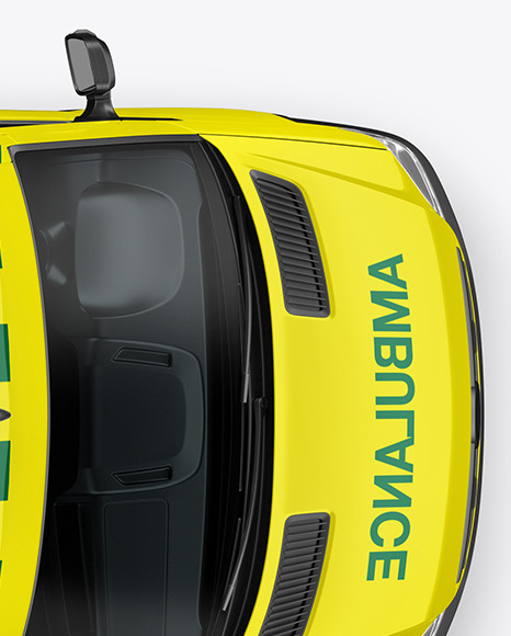 Van Ambulance Mockup - Top View