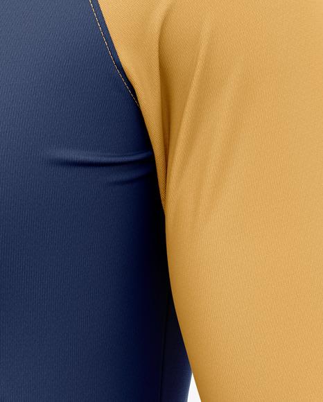 Men's Raglan Long Sleeve T-Shirt Mockup - Half Side View