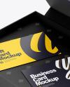 Business Card Box Mockup - High Angle Shot