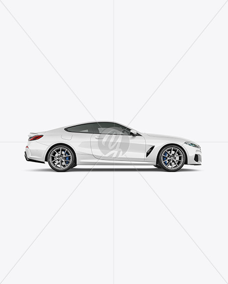Coupe Car Mockup - Side View - Yellowimages Mockups