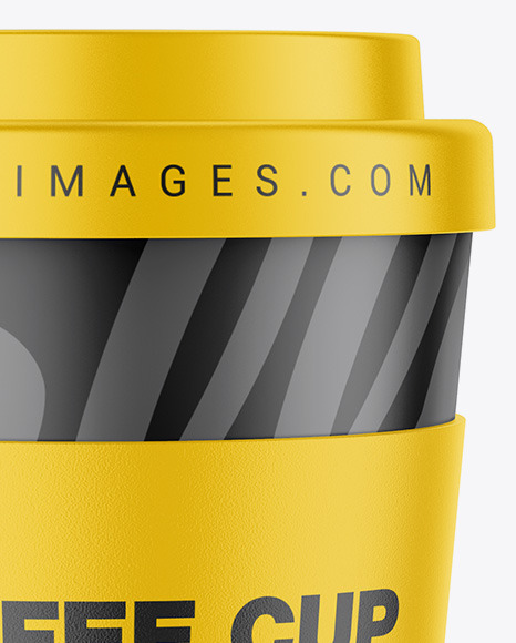 Reusable Coffee Cup With Holder Mockup