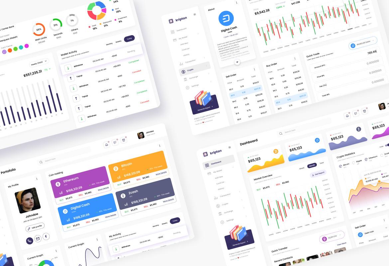 Kripton Admin - Cryptocurrency Dashboard UI Design