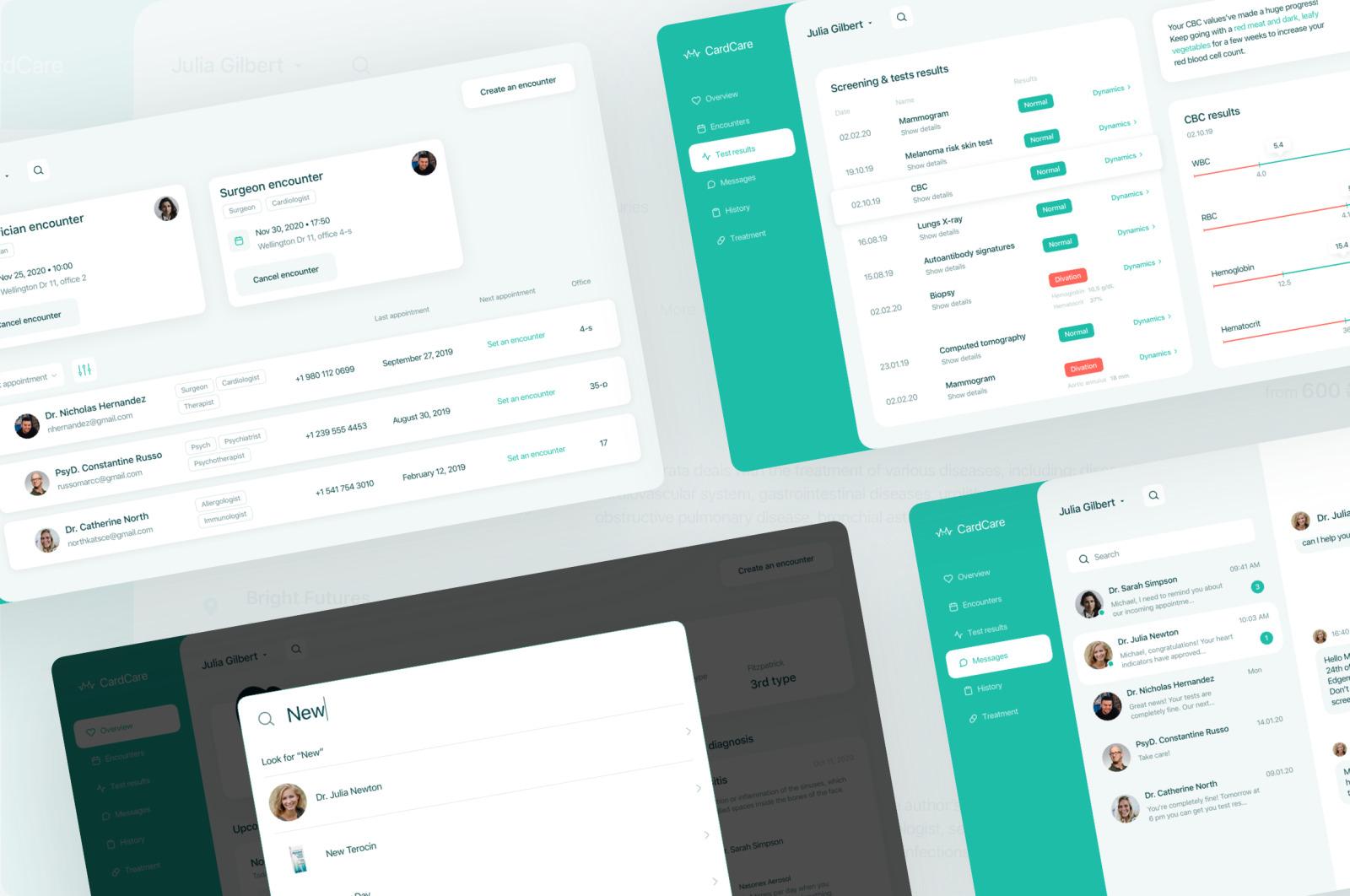 CardCare — Medical UI Kit