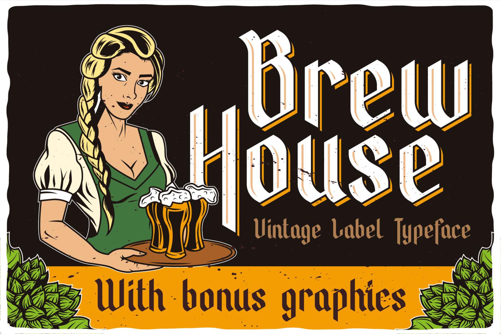 Brew House Label Font