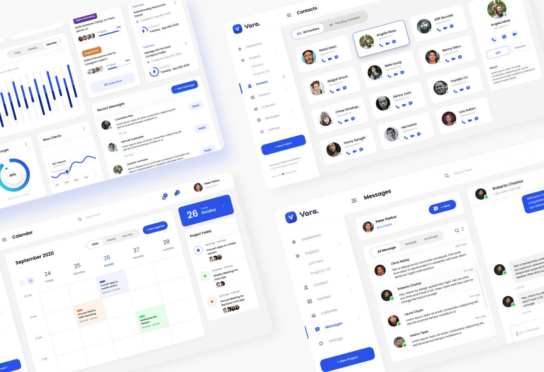 Vora - Saas Admin Dashboard UI Design Template