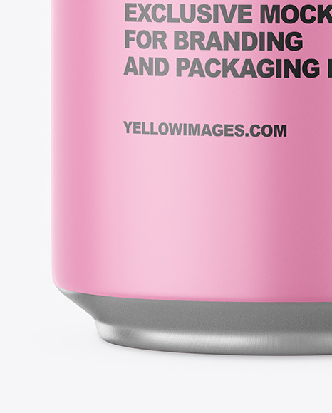Aluminium Can With Matte Finish Mockup