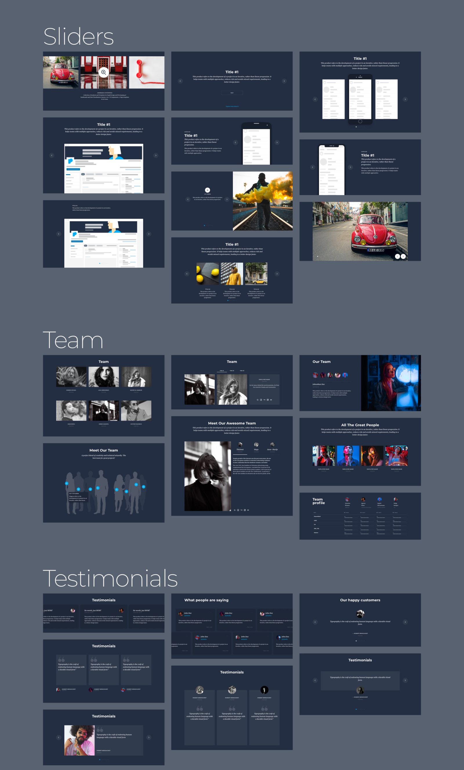 Protogonist 4 | Ultimate UI Kit for Landing Pages