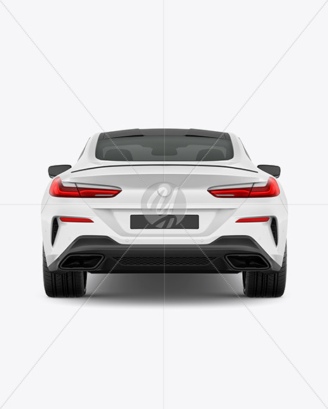 Coupe Car Mockup - Back View - Yellowimages Mockups