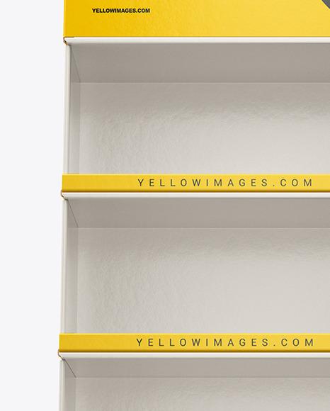 Empty Cardboard Display Stand Mockup