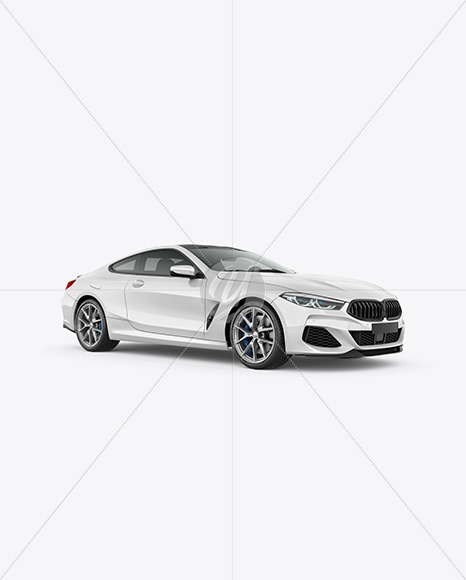 Coupe Car Mockup - Half Side View - Yellowimages Mockups