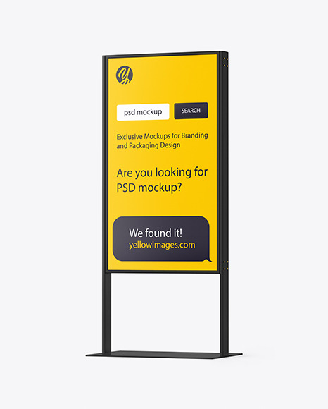Download Plastic Stand Mockup In Indoor Advertising Mockups On Yellow Images Object Mockups PSD Mockup Templates
