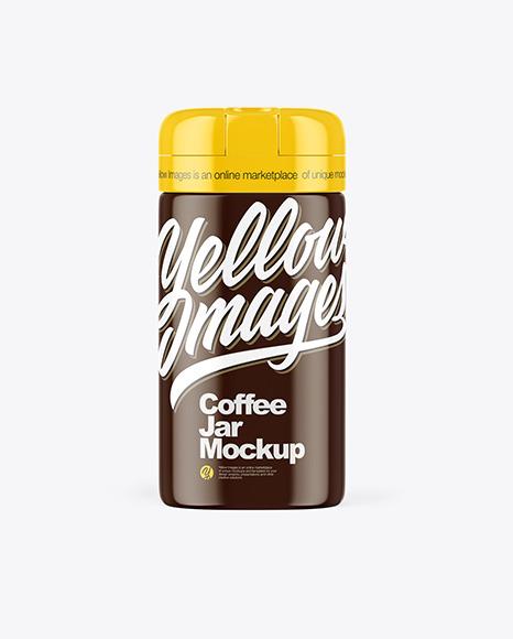 Glossy Coffee Jar Mockup
