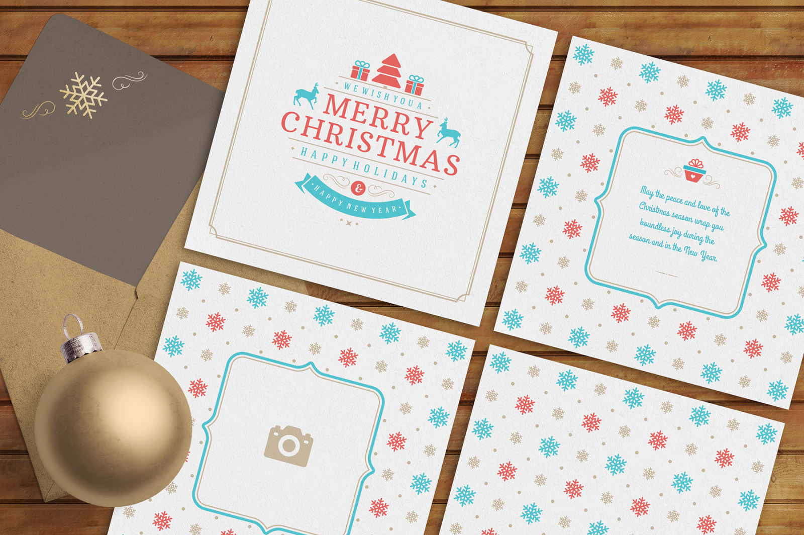 5 Christmas Greeting Cards