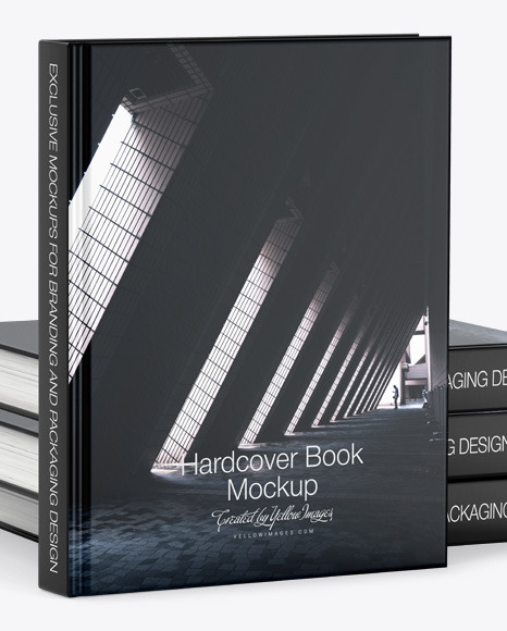 Hardcover Book w/ Matte Cover Mockup