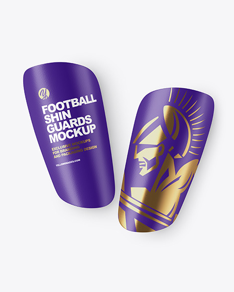 Matte Football Shin Guards Mockup