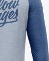 Men's Heather Raglan Long Sleeve T-Shirt Mockup - Back View