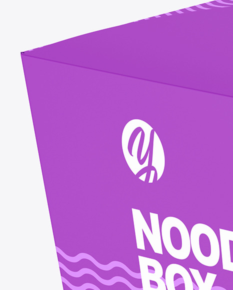 Download Matte Noodles Box Mockup In Box Mockups On Yellow Images Object Mockups
