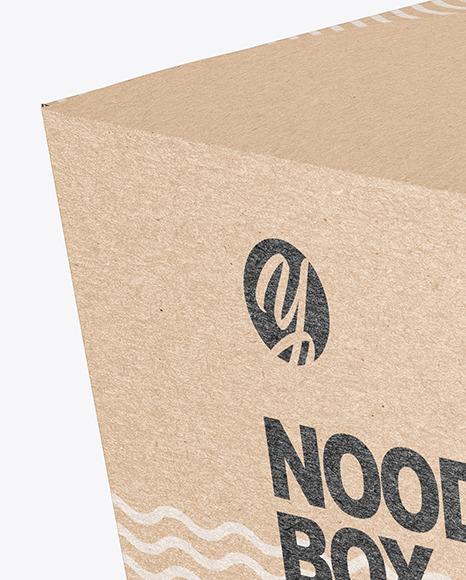 Download Kraft Noodles Box Mockup In Box Mockups On Yellow Images Object Mockups