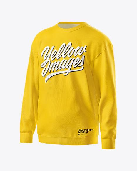 Sweatshirt Mockup - Half Side View