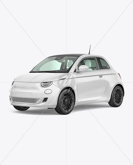 Download Ev Compact Car Mockup Half Side View In Vehicle Mockups On Yellow Images Object Mockups PSD Mockup Templates