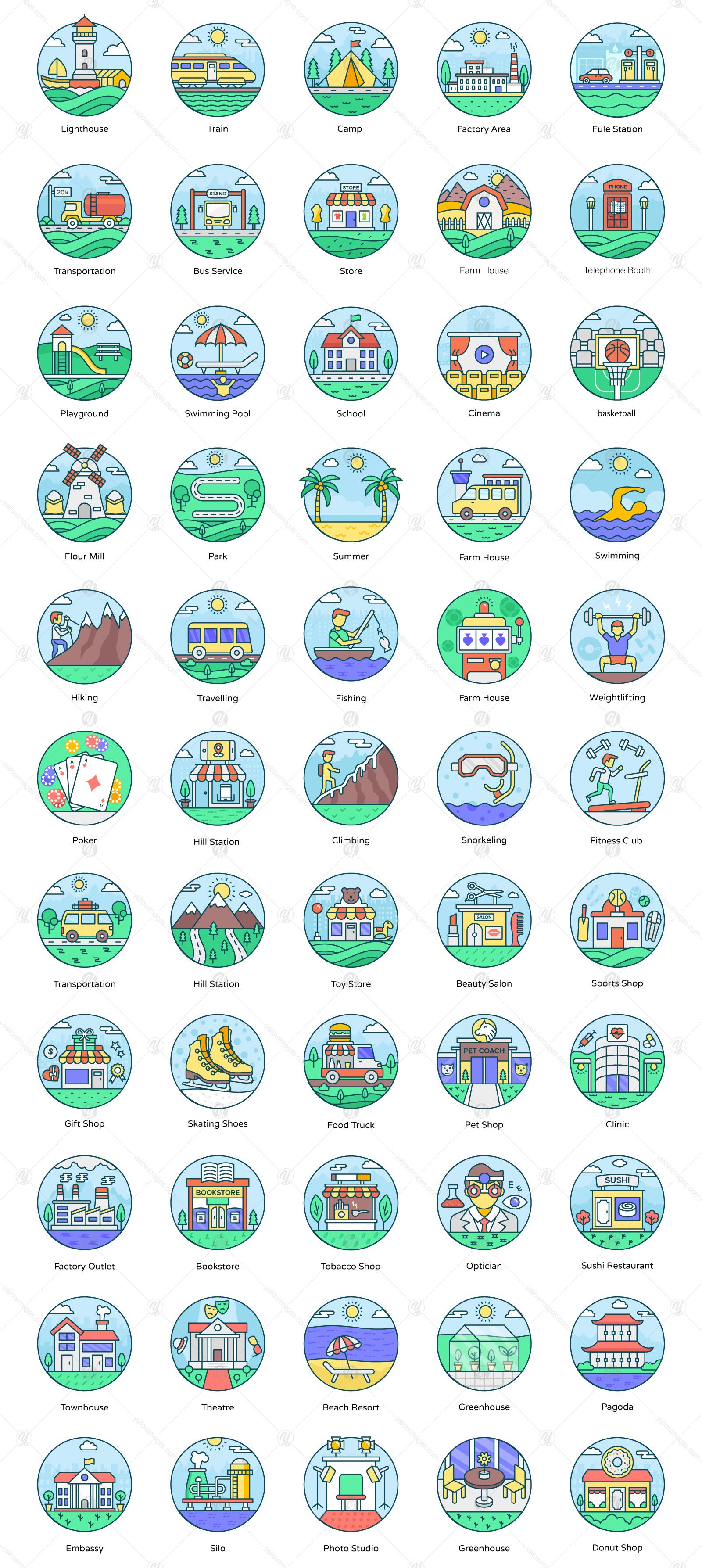 Landscape Icon Designs