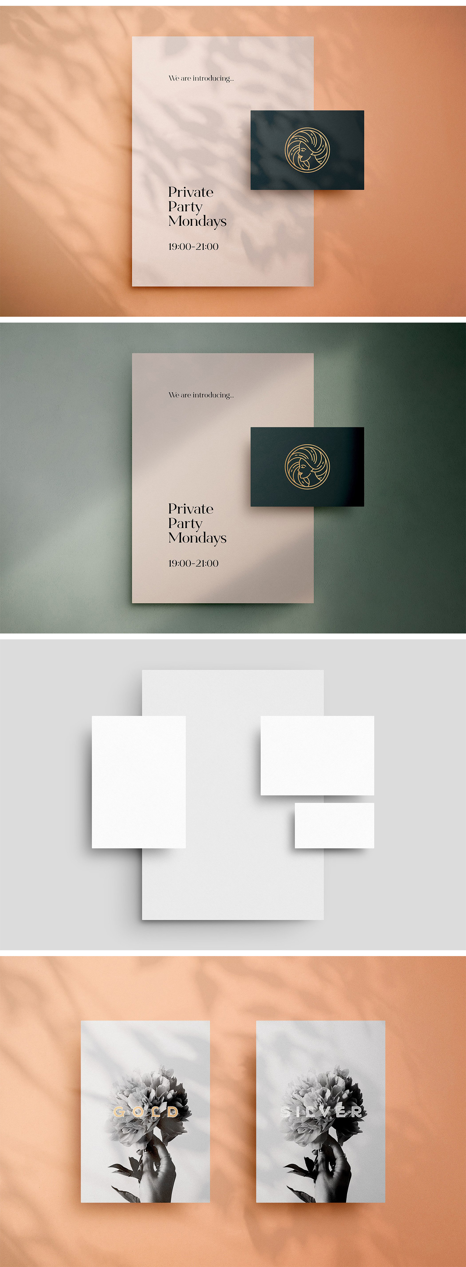 Download Flora Shadow Stationery Mockup In Stationery Mockups On Yellow Images Creative Store PSD Mockup Templates