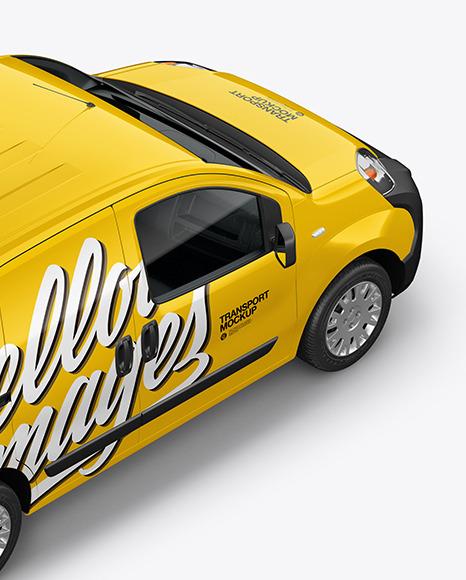 Download Yellowimages Mockups Pickup Truck Mockup Top Halfside View Object Mockups PSD Mockup Templates