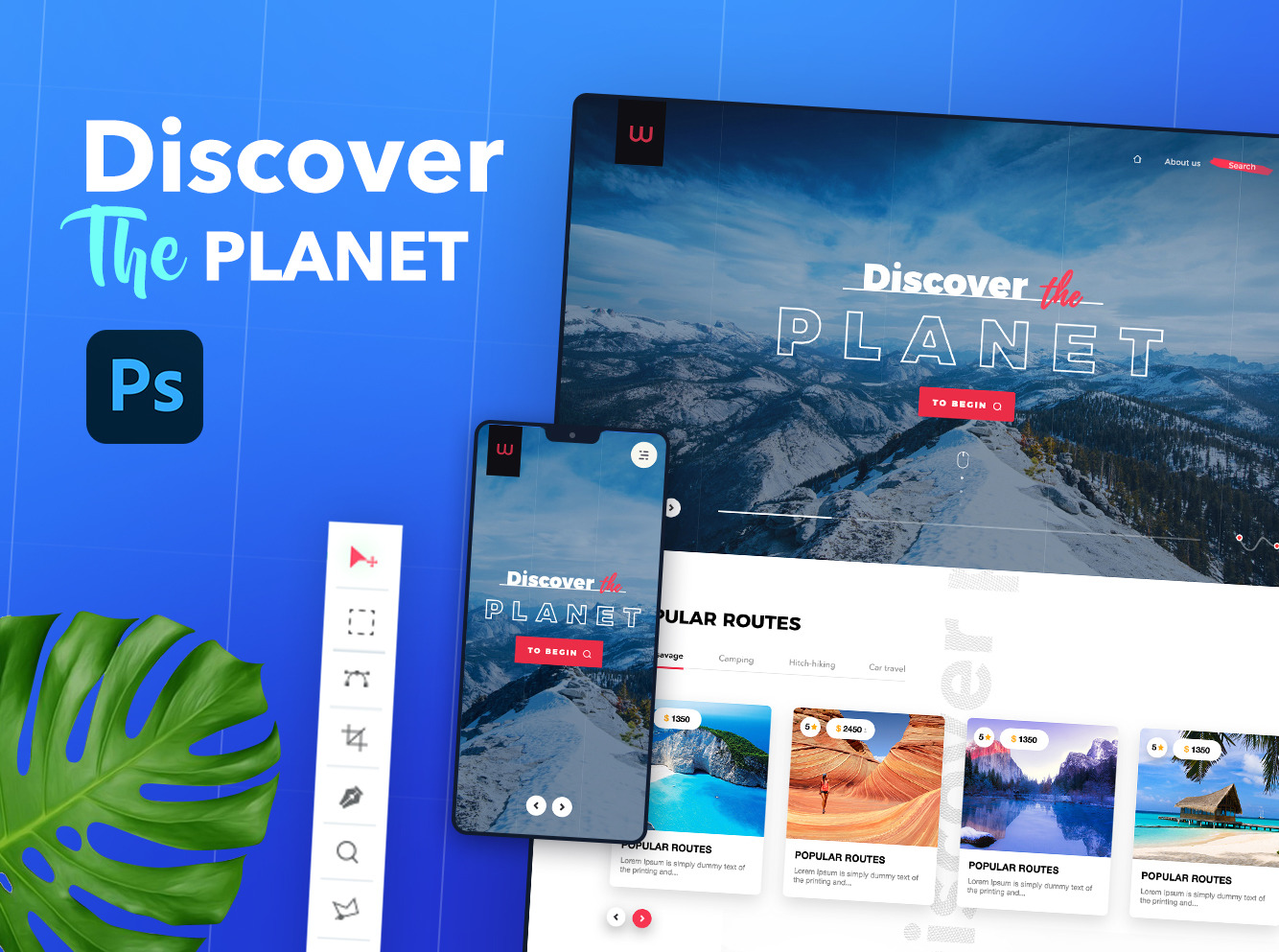 Discover the planet UI kit