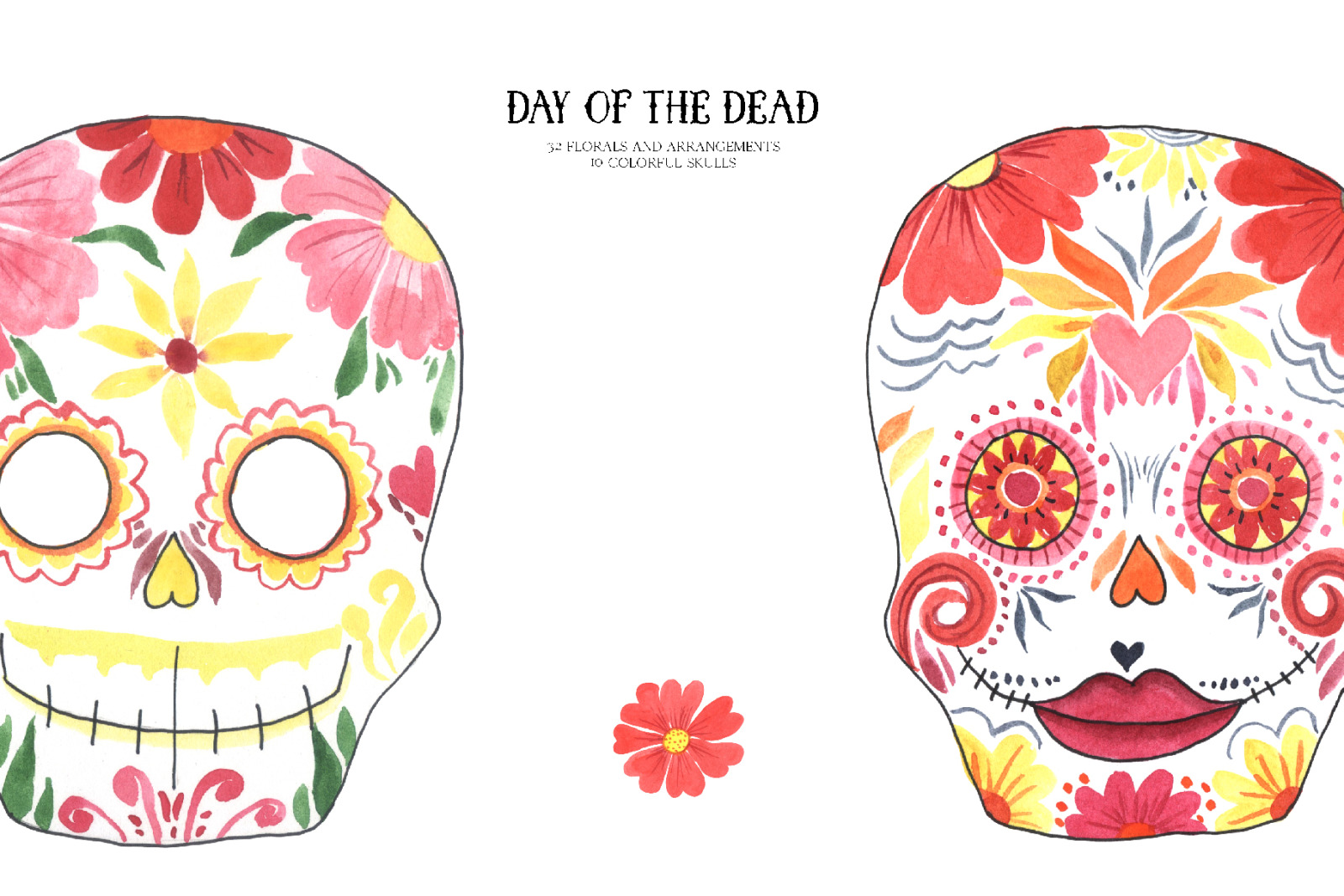 Day of the Dead - Mexican clipart set