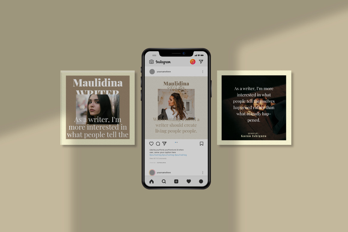 Maulidina Writer Instagram Template