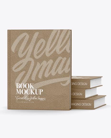 Download Hardcover Book W Leather Cover Mockup In Stationery Mockups On Yellow Images Object Mockups PSD Mockup Templates