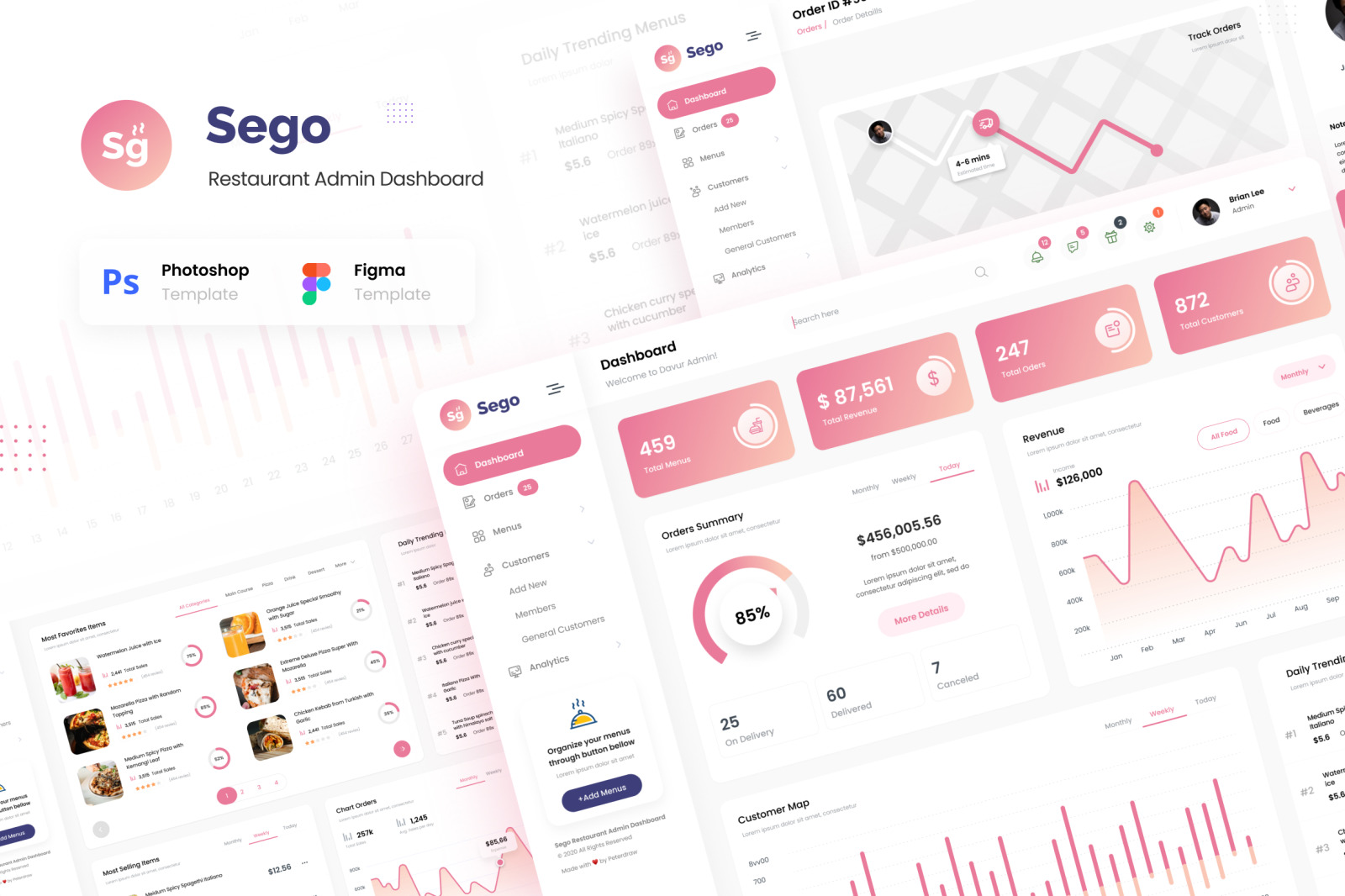 Sego - Food Restaurant Admin Dashboard UI Template
