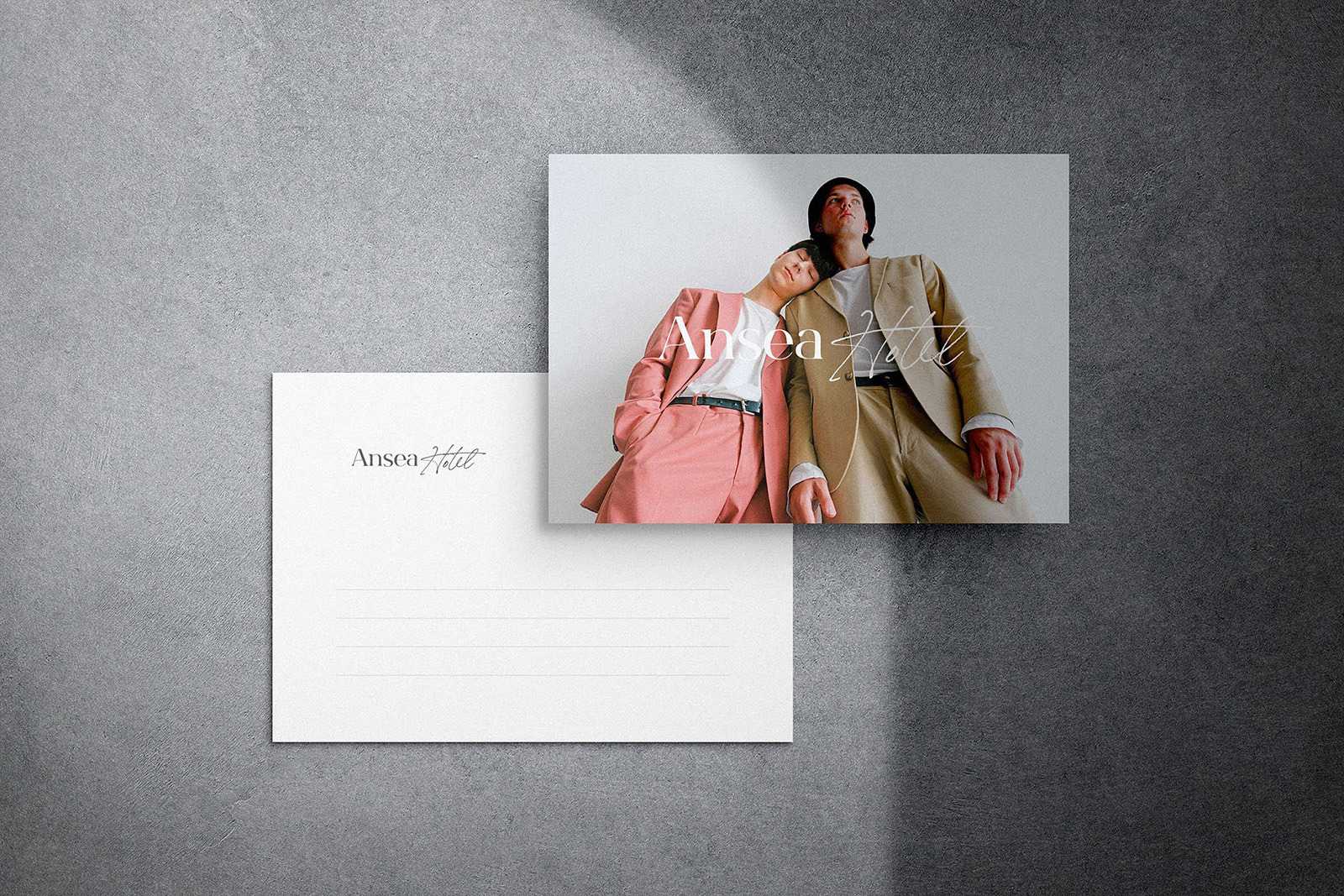 Souvenir Postcard Mockup Scene