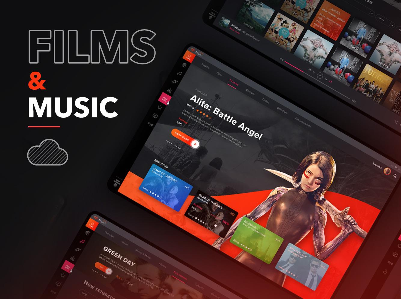 Film&music UI kit