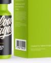 Matte Dropper Bottle with Paper Box Mockup