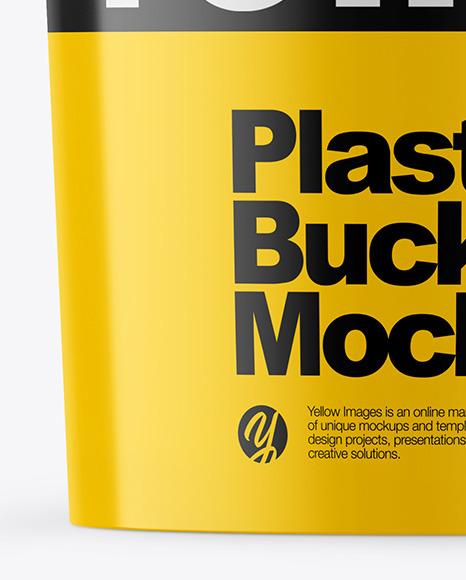 Glossy Plastic Bucket Mockup