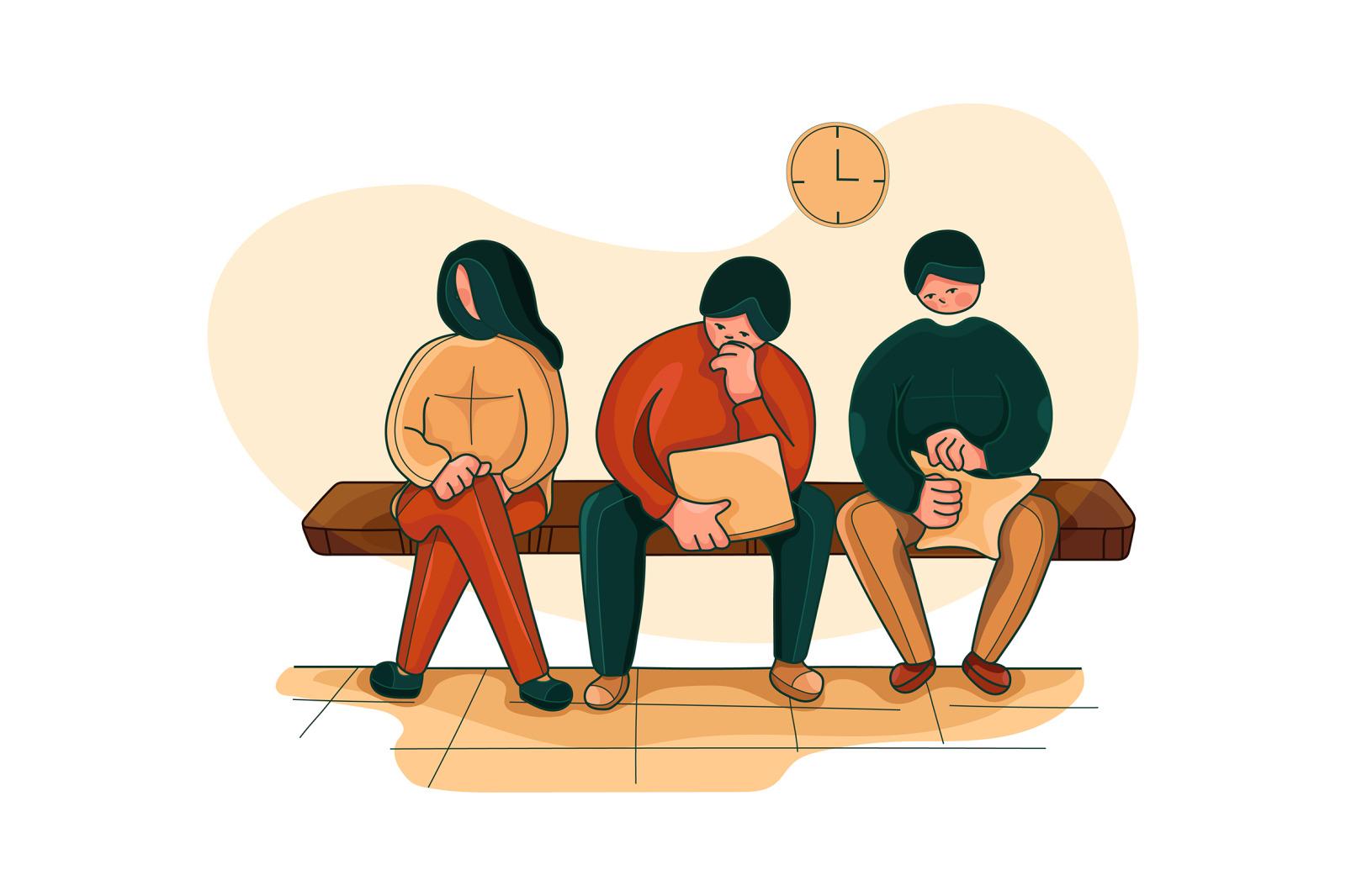 M153_Job Interview Illustrations